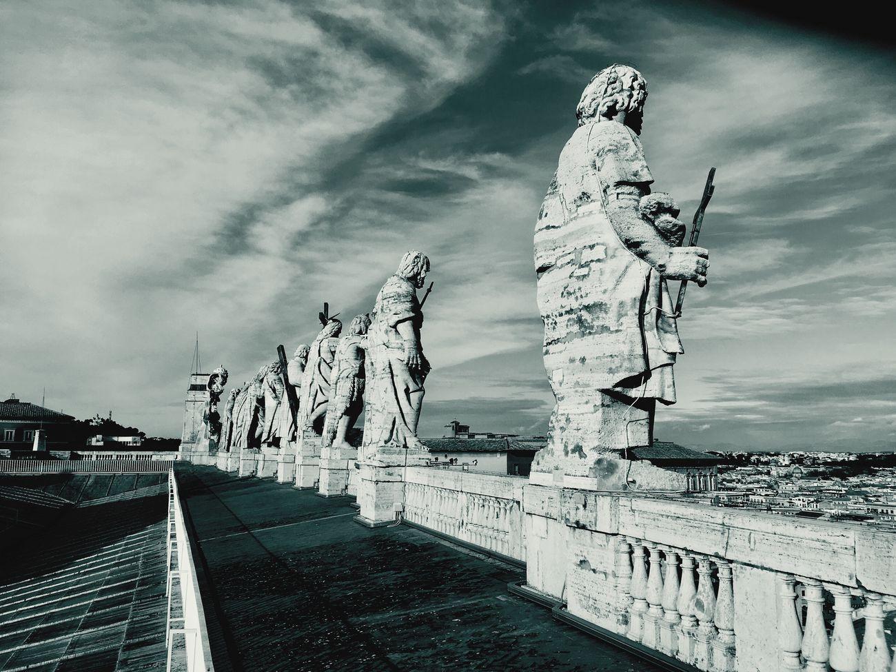 Statue Cloud - Sky Travel Destinations Built Structure Rome Italy