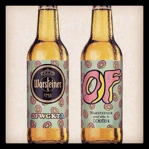 #warsteiner x #oddfuture x #colette #beer #bottle #gooqx #art #design yeahhh ;) Beer Art Bottle Design OddFuture Colette Warsteiner Gooqx