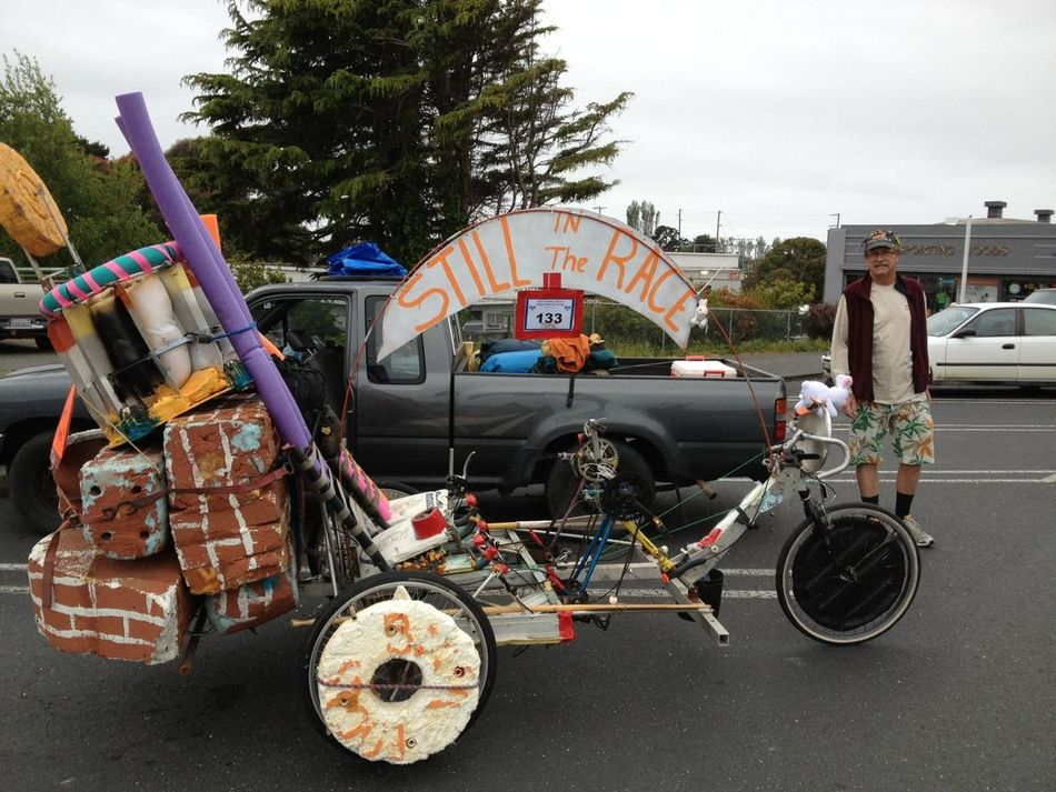 My buddies race the Kinetic sculpture race in Arcadia California Kinetic Sculpture