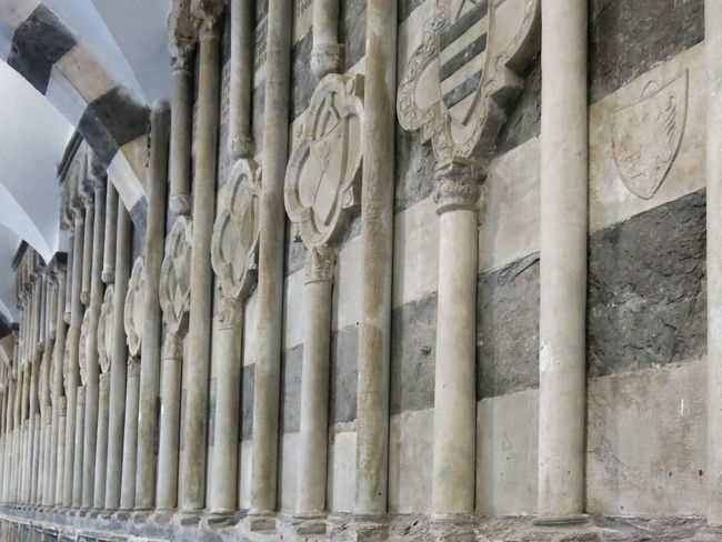 Ancient Civilization Architectural Column Architecture Black And White Built Structure Cloister Cloisters  Day Genoa Genova ♥ Genovatales Gothic Gothic Architecture Gothic Church Gothic Style History Horizontal Marble No People Old Stones Stones Vertical