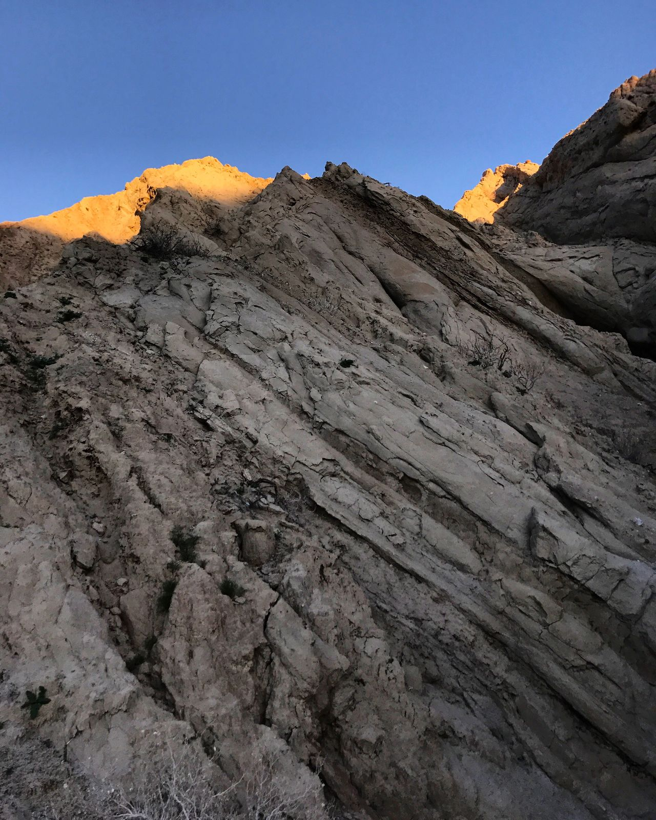 Geology Nature Mountain Beauty In Nature Low Angle View Tranquility Tranquil Scene Scenics Sky Clear Sky Outdoors No People Day Sunset