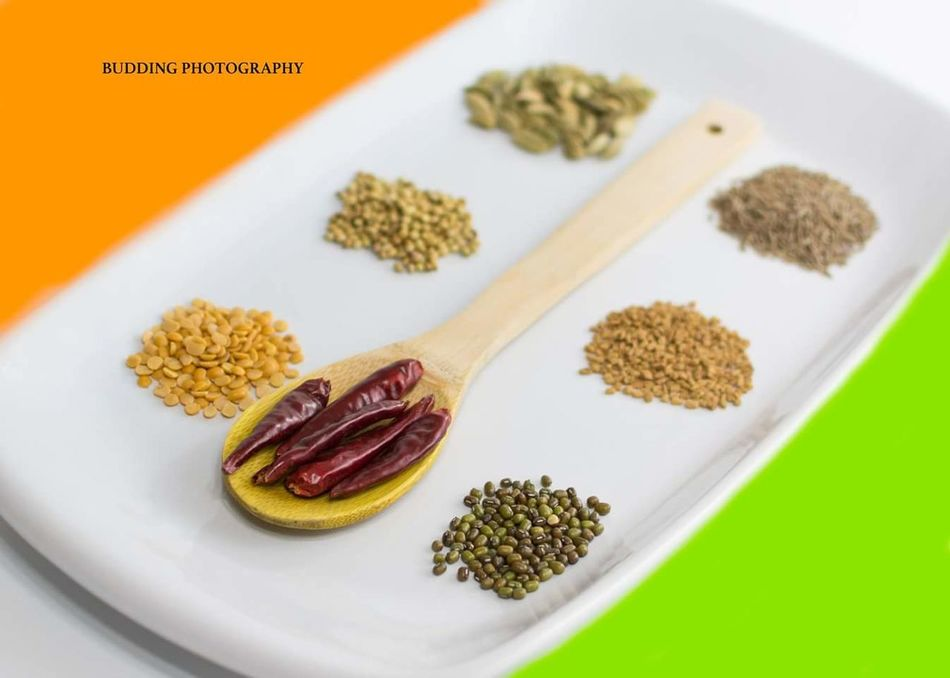 Nikonphotography Nikon Indian Indoors  Still Life No People White Background India Flag Tricolor Republicday Still Life Photography Studio Shot Spices Indian Spices Plate Food