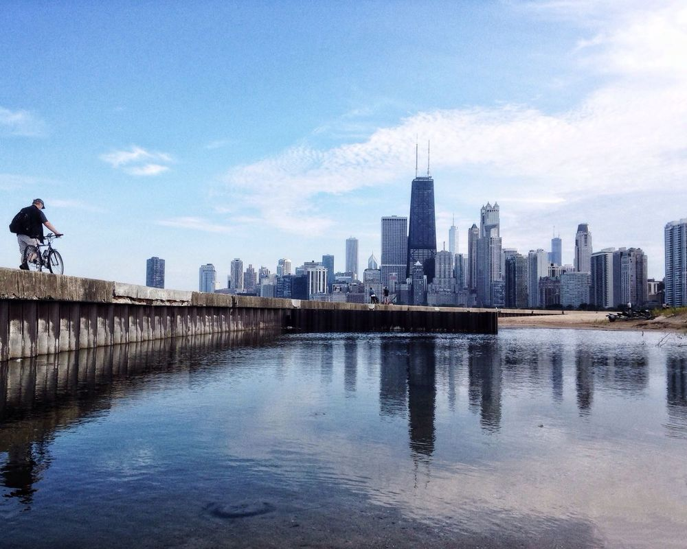 Chicago Skyline from North Avenue Beach Time To Reflect