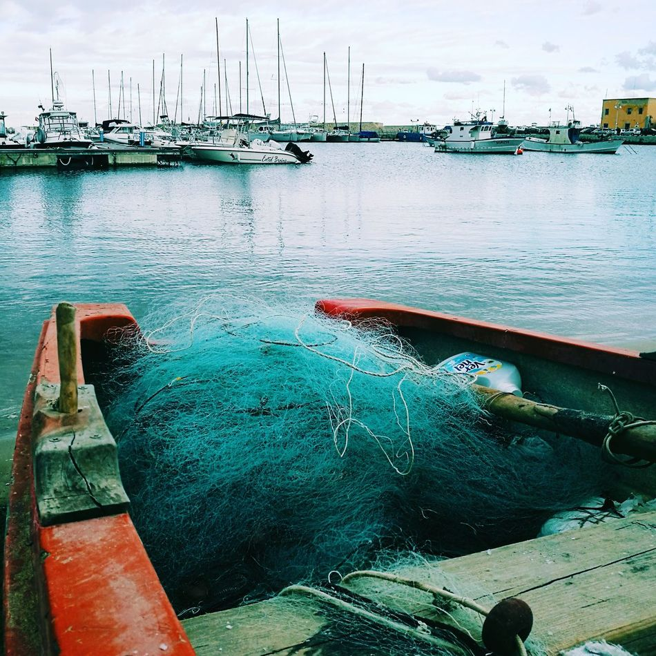Fishing Fishermen Fishboat Water Outdoors Sky Day No People Nature Sicily Tourism Tranquil Scene Clear Sky Port Bestview Nature Boats Cloud - Sky