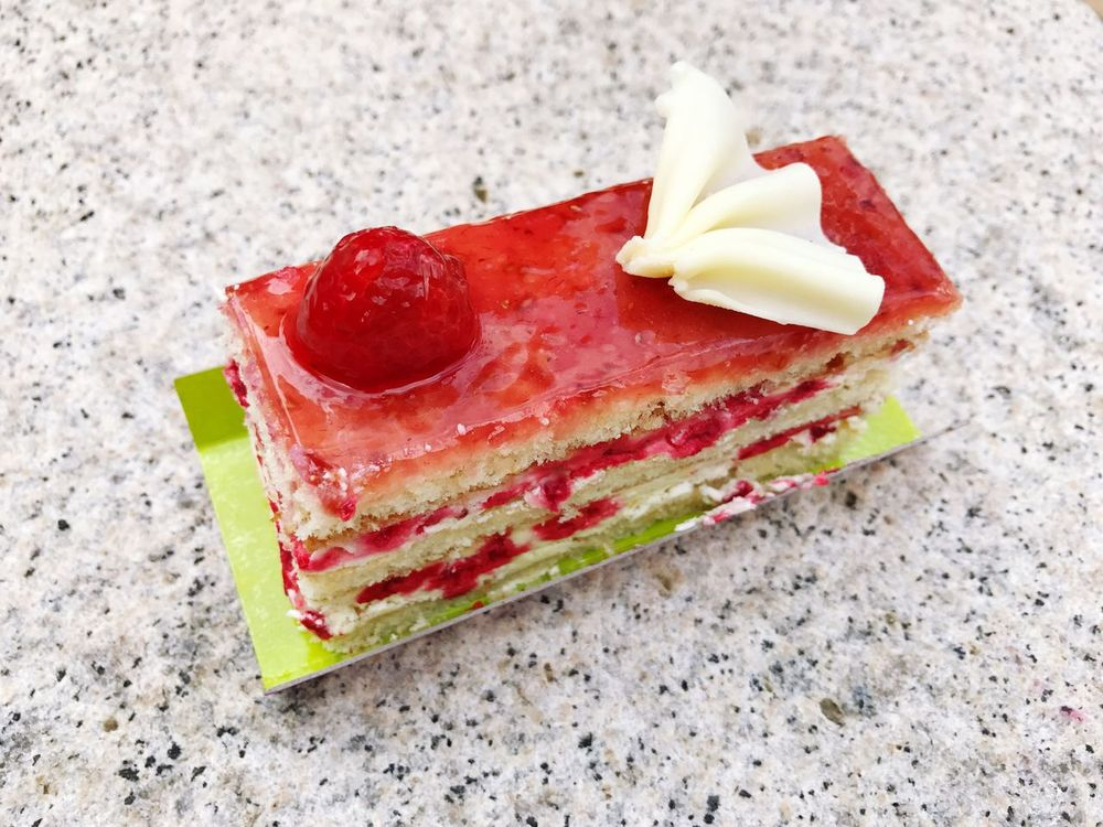 Dessert Cake SLICE Raspberry Raspberry Cake Food And Drink Food No People Close-up Freshness Day Indoors  Ready-to-eat