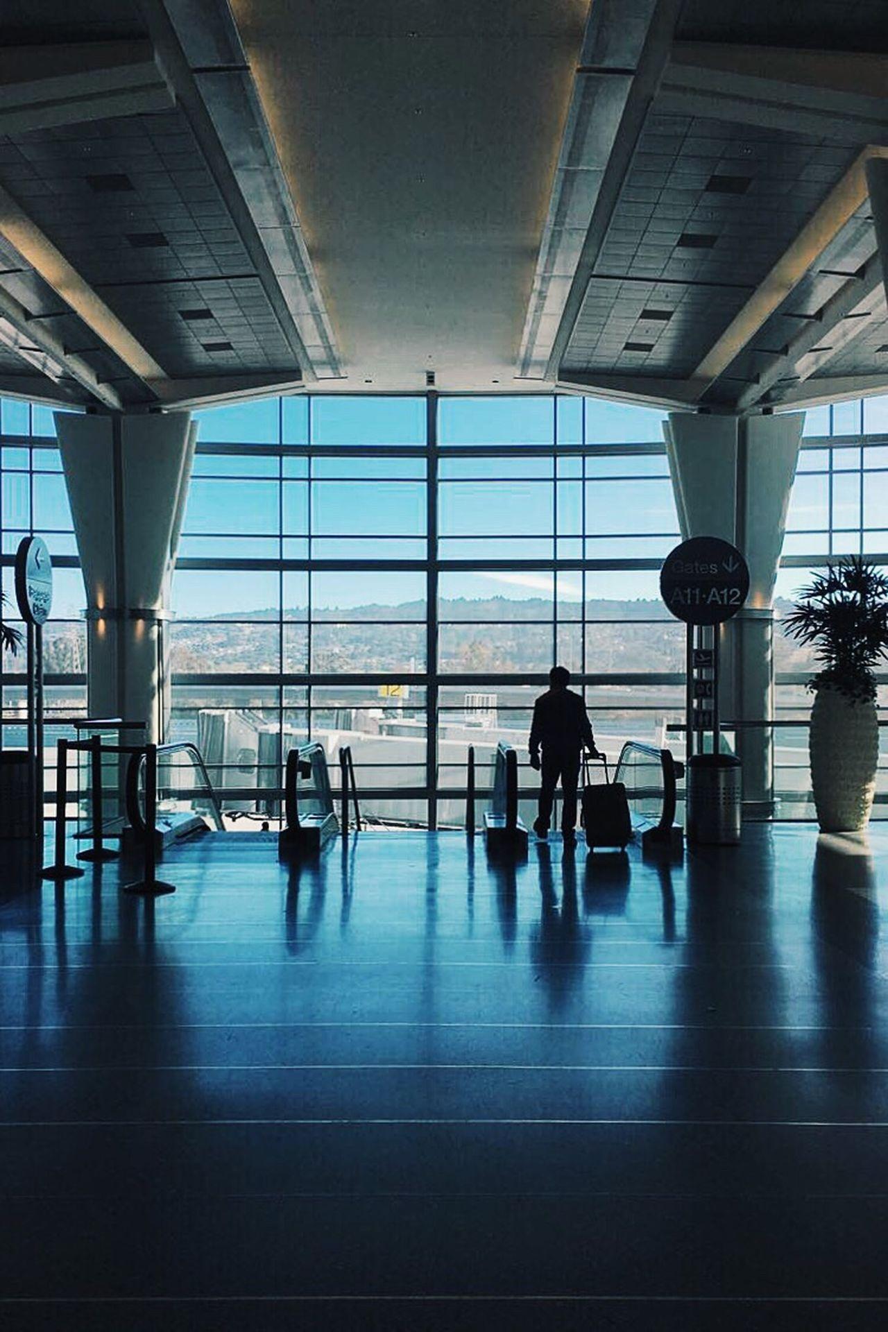 Traveling Airport Transportation Symmetry