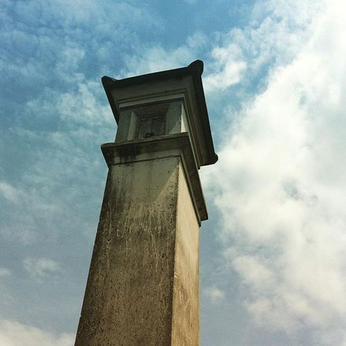 This tower in Bale Agung Temple at Temesi Village was build in 1965 and still strong until now Temple Village Sky Building Bali Temesi Gianyar Balidaily Baliadventure