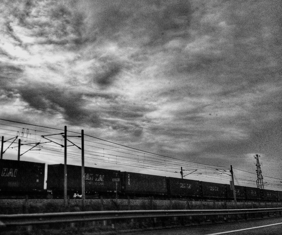 Train Sky Transportation Sunset Chasingdreams