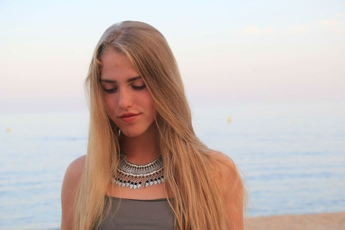Beach Sea Beauty Long Hair Water Beautiful Woman One Young Woman Only One Person Natural Beauty Spain ✈️🇪🇸