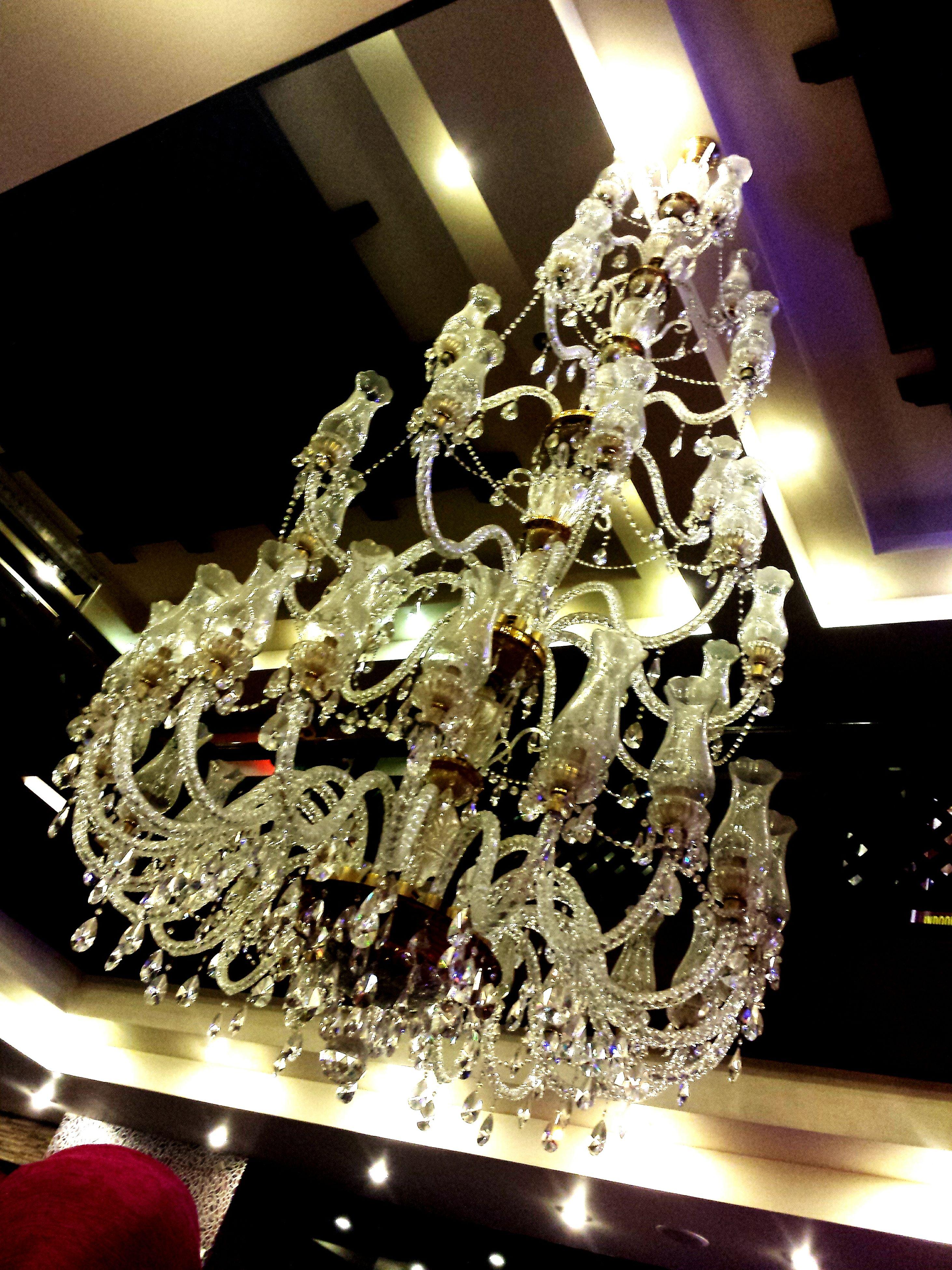 indoors, illuminated, home interior, decoration, decor, hanging, art and craft, close-up, still life, christmas, chandelier, table, art, no people, creativity, lighting equipment, celebration, ornate, tradition, human representation