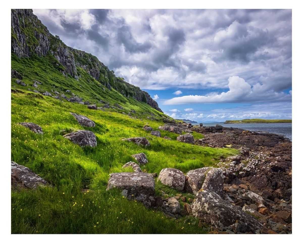 One fine day Landscape Nature Beauty In Nature Sky Grass Scenics Tranquil Scene Outdoors Tranquility Cloud - Sky Mountain Day No People Isle Of Skye Scotland Canon 5d Mark Lll 16-35 2.8 Ii Canon Tranquility Travel Sunlight Sea And Sky Sea Fine Art Photography