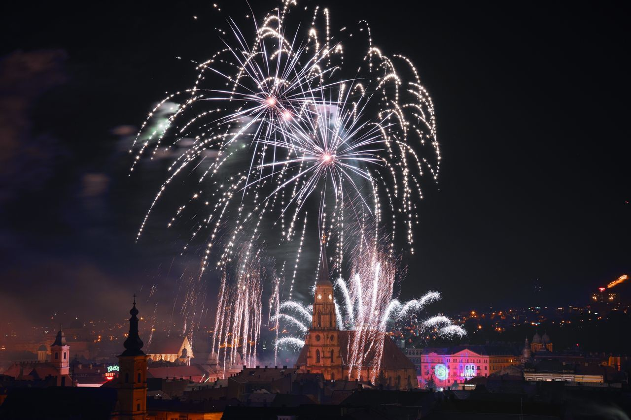 Firework NewYear 2016 Happy New Year 2016 Klausenburg Cluj-Napoca