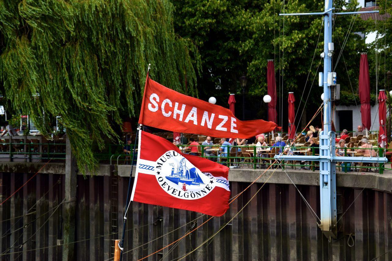Flag Germany GERMANY🇩🇪DEUTSCHERLAND@ Hamburg Port Port Of Hamburg  Redflag Schanze