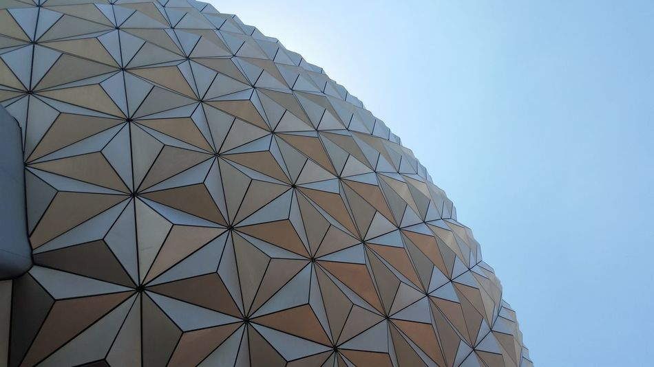 Architecture Lines Sphere DisneyWorld Epcot Vacation Florida Triangles