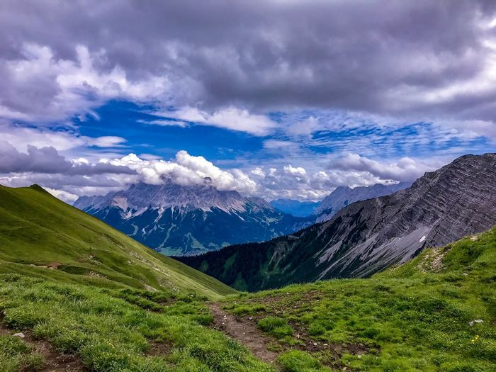 Gartnerwand Mountain Scenics Beauty In Nature Tranquil Scene Nature Cloud - Sky Sky Day Blue Grass No People Tranquility Landscape Mountain Range Outdoors An Eye For Travel