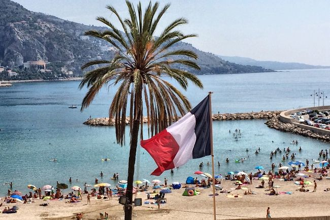 Riviera Frenchriviera French Flag Beach Showcase July Street Photography EyeEm Best Edits Eye4photography  First Eyeem Photo EyeEm Best Shots IPhoneography Taking Photos Walking Around Proud à Menton (06)