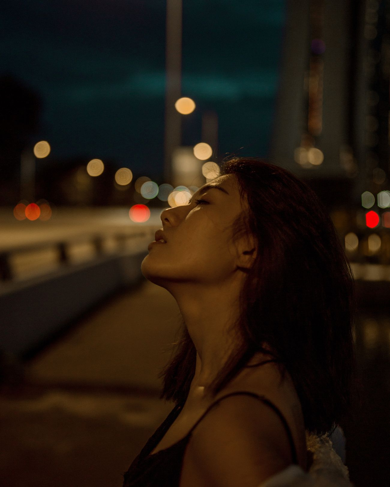 Lights will guide you home City Life City Night Light Collection Portraits Of EyeEmNight Photography Night Lights Portrait Of A Woman Portrait Of A Girl Portrait Photography Women Of EyeEm Beautiful Woman Beautiful People Moody Portrait The City Light Dark Bokeh Bokeh Photography