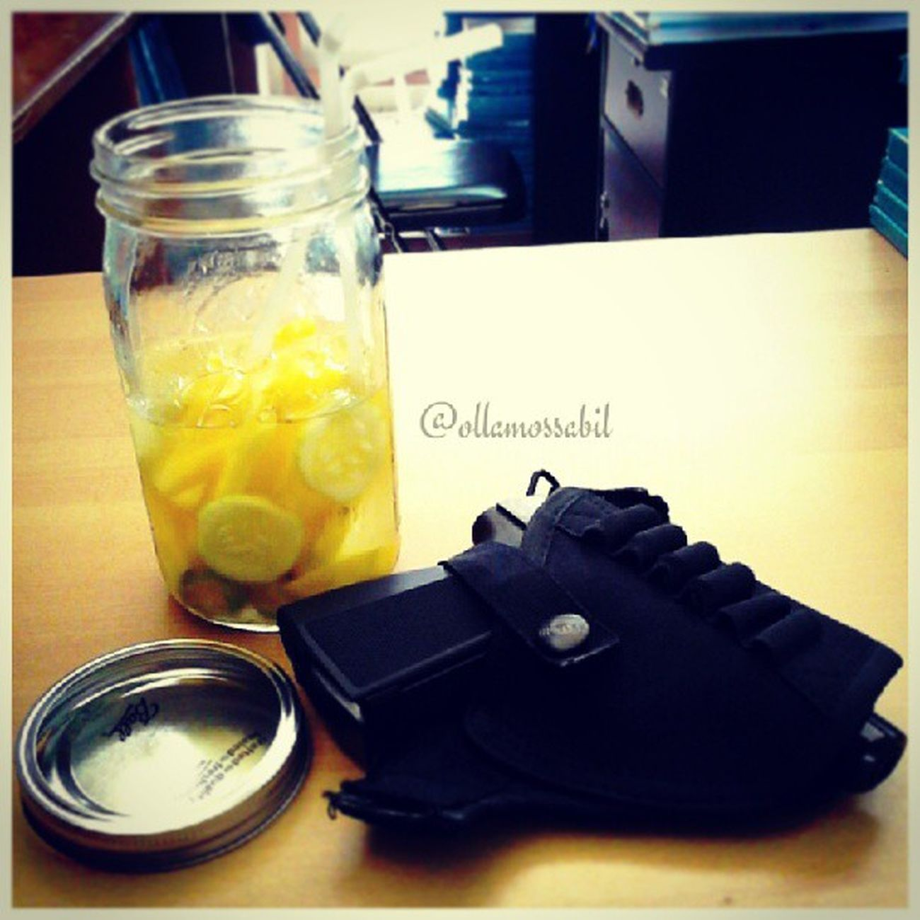 my Infusedwater and my Baikal Makarov .. Perfect Mix .. Really Love all my Hobby .. <3