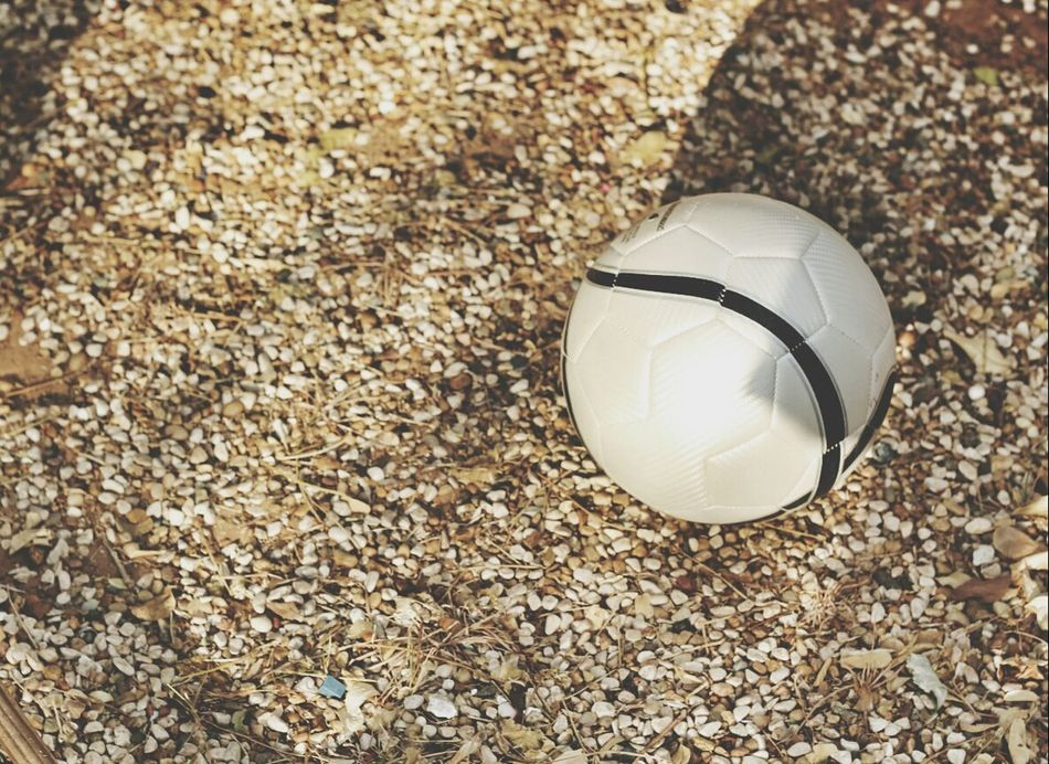Beautiful stock photos of soccer balls, Ball, Day, Field, High Angle View