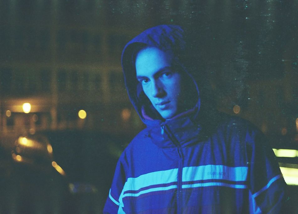 35mm 35mm Film Blue Bokeh Canon AE-1 Close-up Czech Republic Film Filmisnotdead Front View Illuminated Ishootfilm Liberec Looking At Camera Night One Person Outdoors Portrait Real People Young Adult