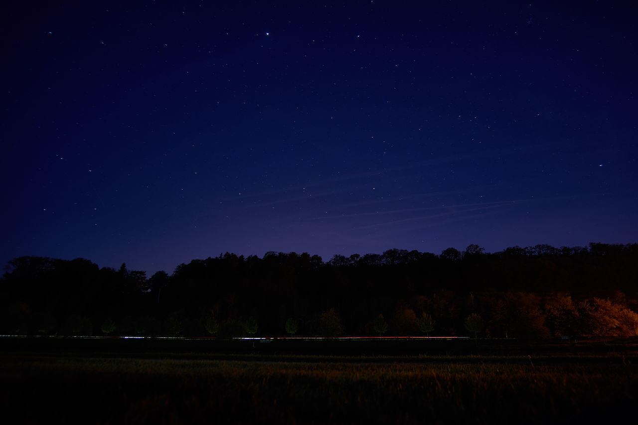 Night on river Moselle Astronomy Astrophotography Beauty In Nature Constellation Dark Galaxy Idyllic Infinity Landscape Light Trails Long Exposure Majestic Nature Night No People Scenics Sky Space Star Star - Space Star Field Tranquil Scene Tranquility Tree