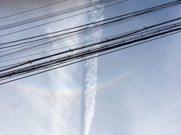 The Purist (no Edit, No Filter) Rainbow & Clouds And Sky & Electric Wire 2014.9.21 17:05