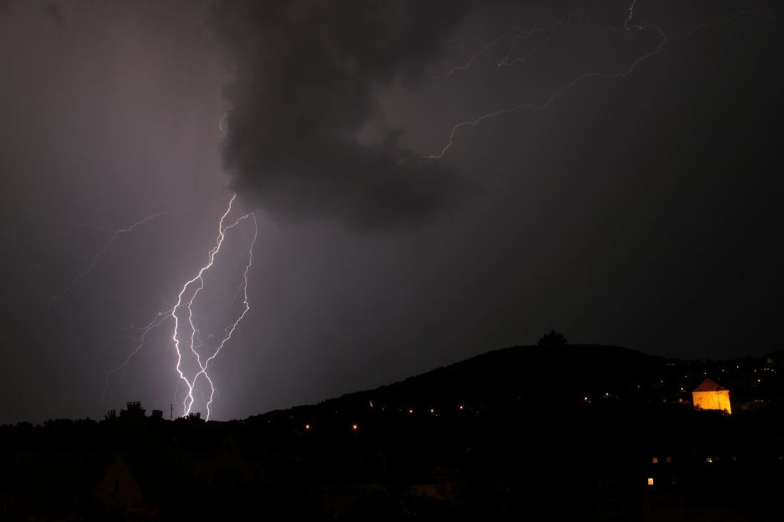 THUNDERSTRUCK Created by nature, sung by AC/DC, photographed by me. Thunderstorm Lightning Thunderstruck Nature