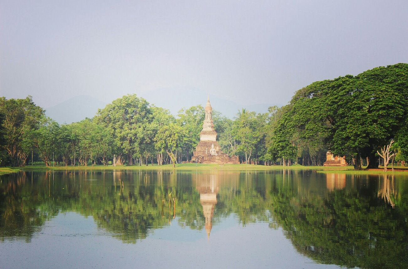 Paysage Water Reflections Reflection_collection Travel Thaïlande Temple