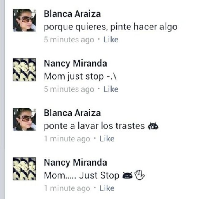 """So mom tried to be cool and commented on my status /_- I was like """"no mom -.-"""" lol Hilarious WANNABECOOL Loveher Mommoments"""