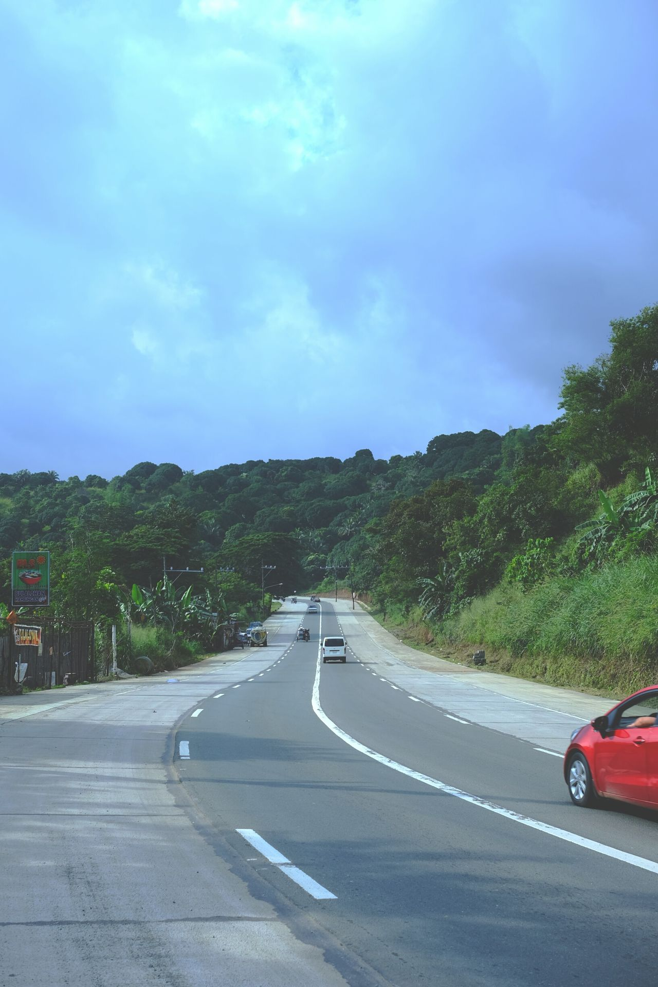 Road Cars Automobile And Nature Highway Trees Green Nature Skies Sky Cloud Antipolo Rizal Philippines