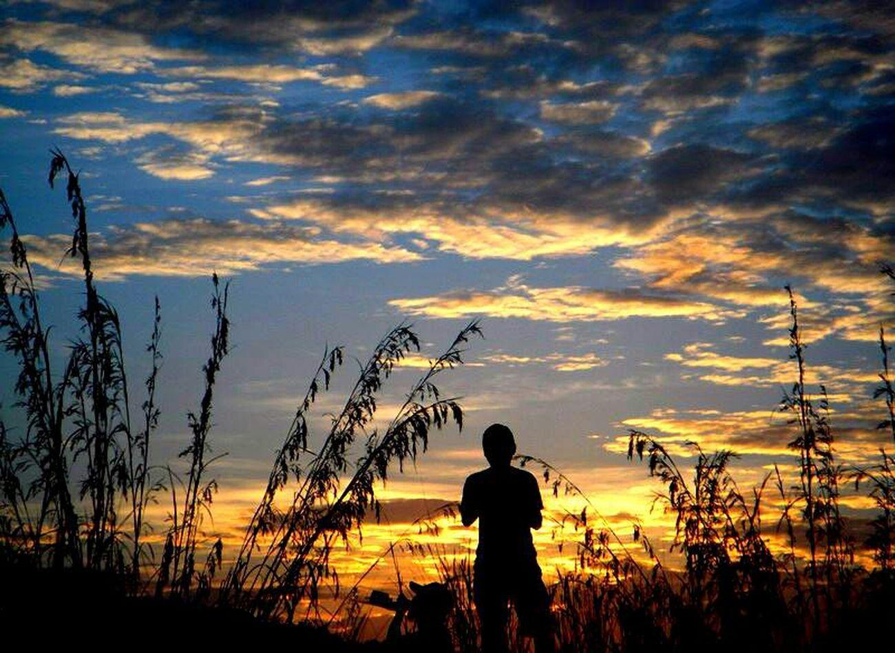 Bukit Broga Sunset View. Clouds And Sky Enjoying Life