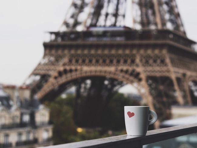 מיימרקט מייפריס Liquid Lunch Love Heart Coffee Paris Eiffel Tower Coffee Time Coffee Break Love ♥ Valentine Valentine's Day  Traveling Relaxing Tourist EyeEm Best Shots Eye4photography  Drinking Hotel View Enjoying Life Taking Photos Hello World