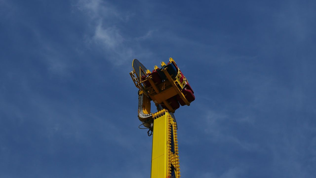It happened at the world's fair Low Angle View Outdoors Metal Industry Sky No People Day Fair Rides Amusement Park Amusement Park Ride Safety EyeEm Selects