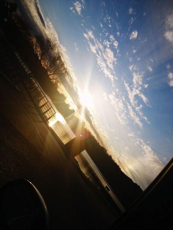 Create you POV Sunset Lake Sky Enjoying Life Simply Genious Nature Around Me Glitch Deceptively Simple
