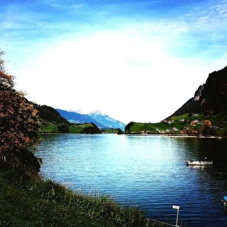 Switzerland Landscape Lungern Obwalden Sea Mountain Autumne Beautiful Nature Handyphoto Photooftheday EyeEm Best Shots Bestoftheday Nice Day