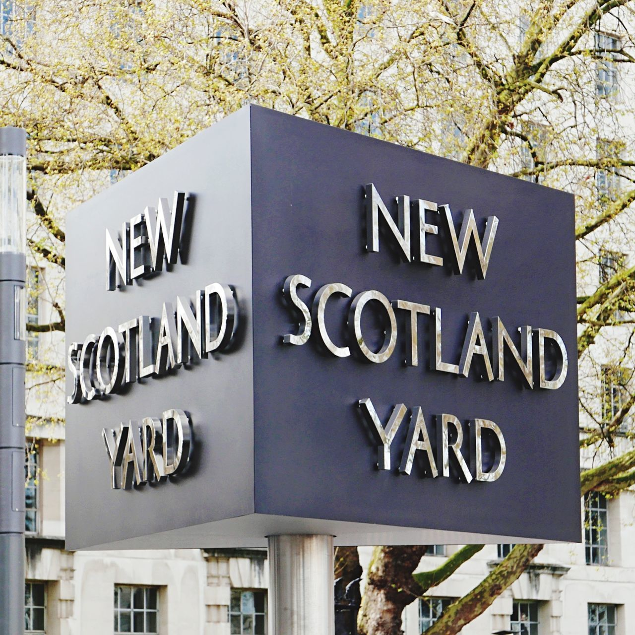 New Scotland Yard London New Scotland Yard Sign Revolving Sign Outdoors No People