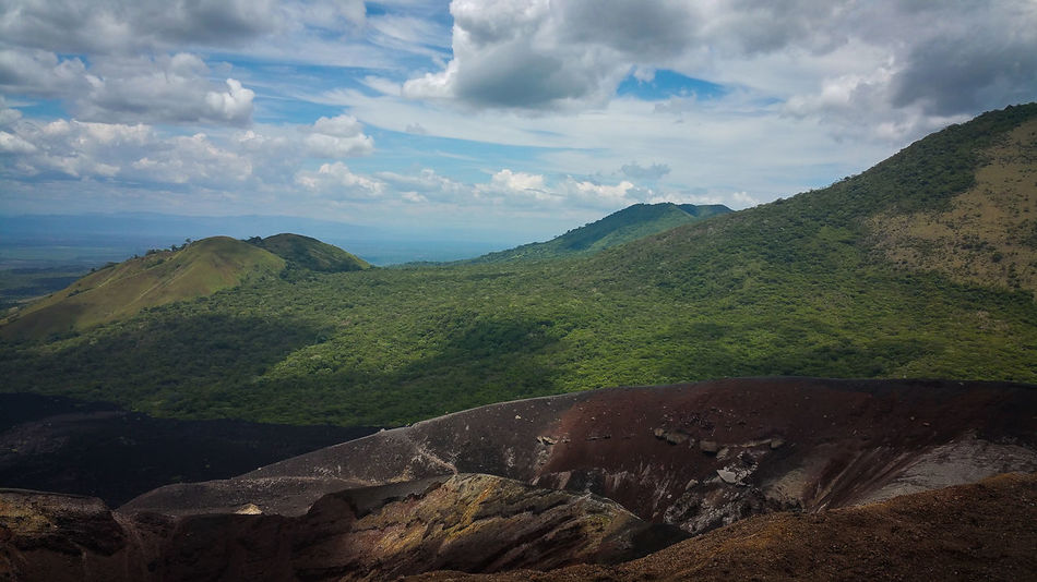 Blue Sky Cerro Negro Day Geology Landscape Layers And Colors Layers And Textures Nicaragua No People Outdoors Scenics Volcanic Landscape Volcano