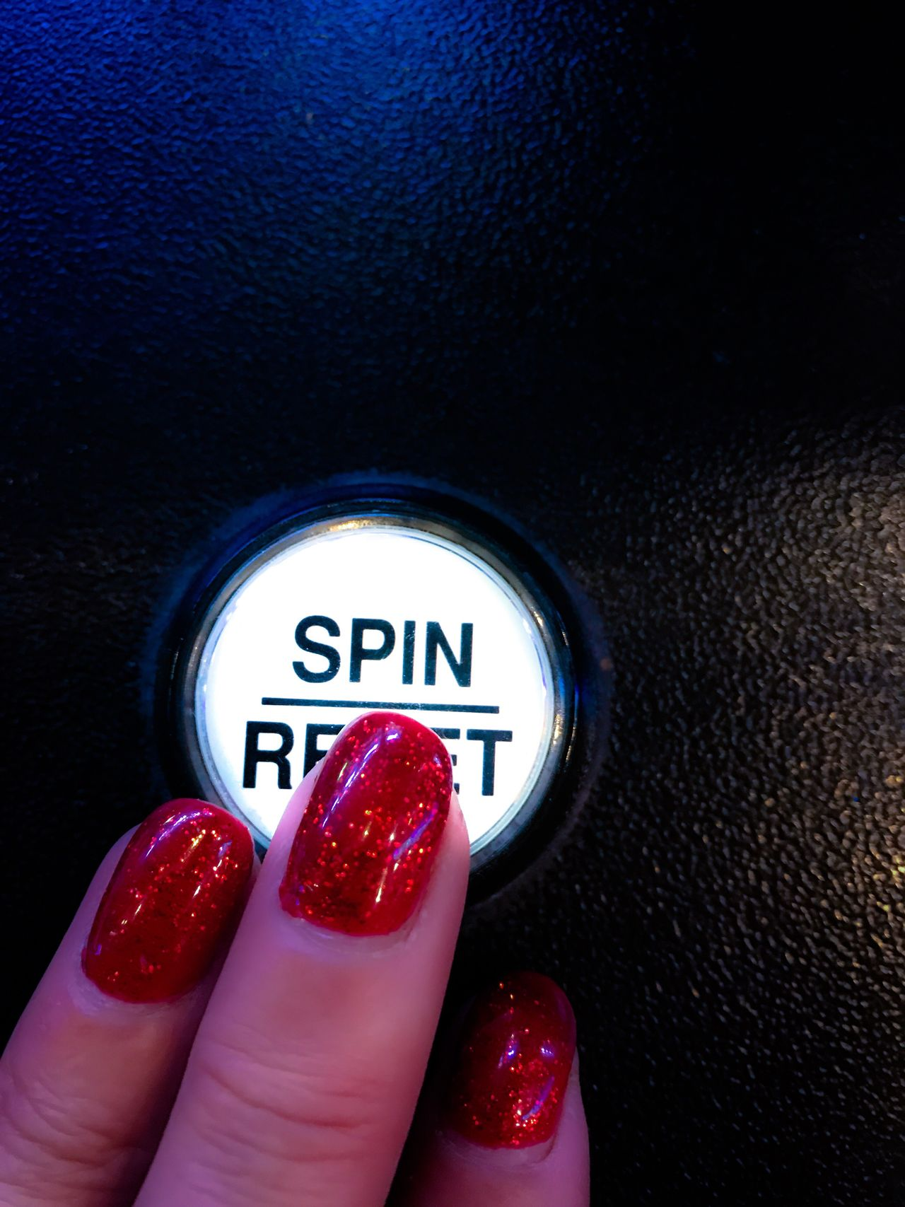 Human Body Part Human Hand One Person Real People Human Finger Close-up Leisure Activity Lifestyles Text Nail Polish Indoors  People Low Section Adult Day Casino Slot Machine Button Spin Casino Night Casinolife Gambling Chance Encounters