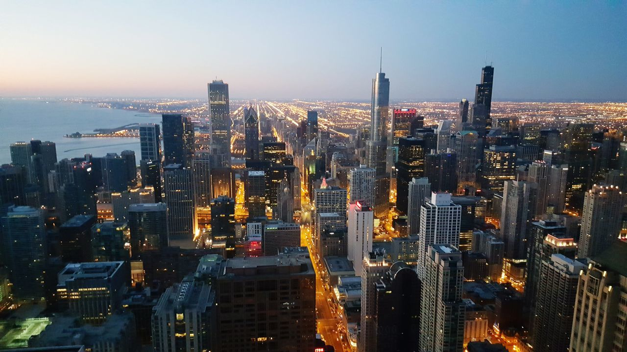Beautiful stock photos of chicago, Aerial View, Architecture, Blue, Building Exterior