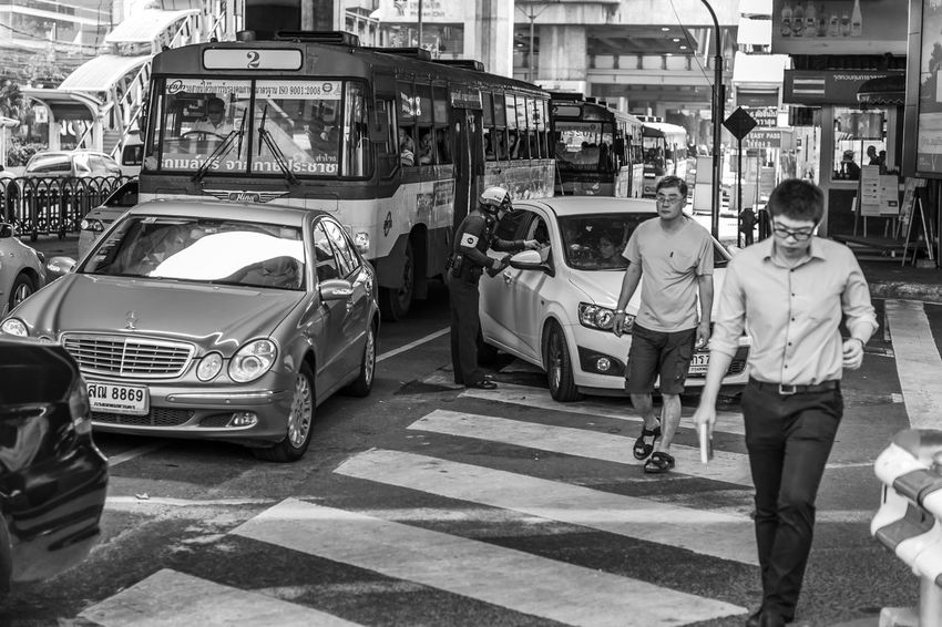 Walk is fasther Adult Adults Only Bangkok Food Bangkok Traffic Car City Day Land Vehicle Lifestyles Mode Of Transport Outdoors People Transportation Young Adult
