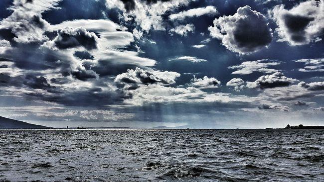Aegean Sea Portizmir Limanizmir Sea And Sky Liman Water Seaside Sea Seascape Sea View Clouds And Sky Clouds Alsancak Kordon Shades Of Blue Colour Of Life