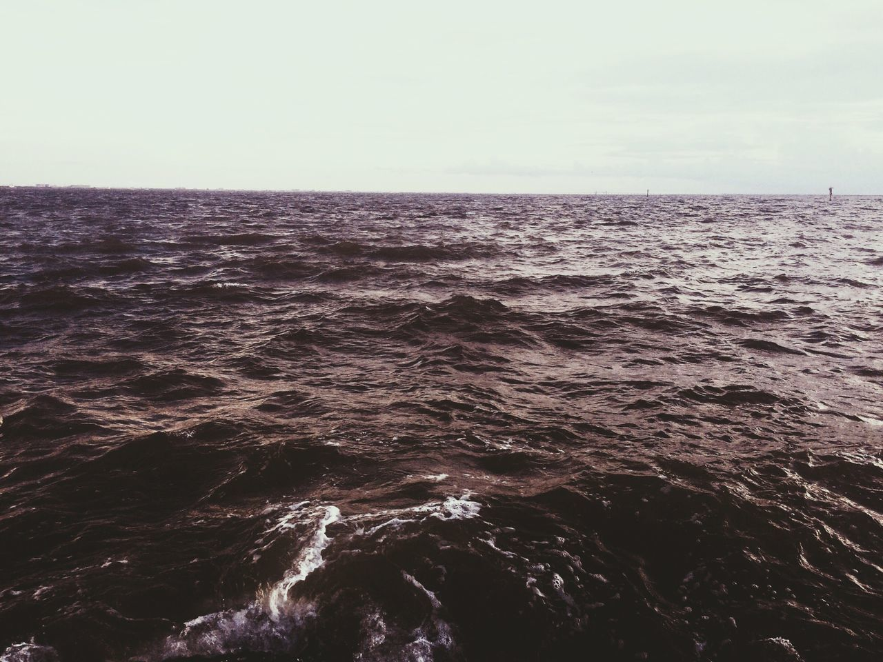 It felt like the water was angry Sea Nature Water Horizon Over Water Beauty In Nature No People Clear Sky Scenics Outdoors Wave Motion