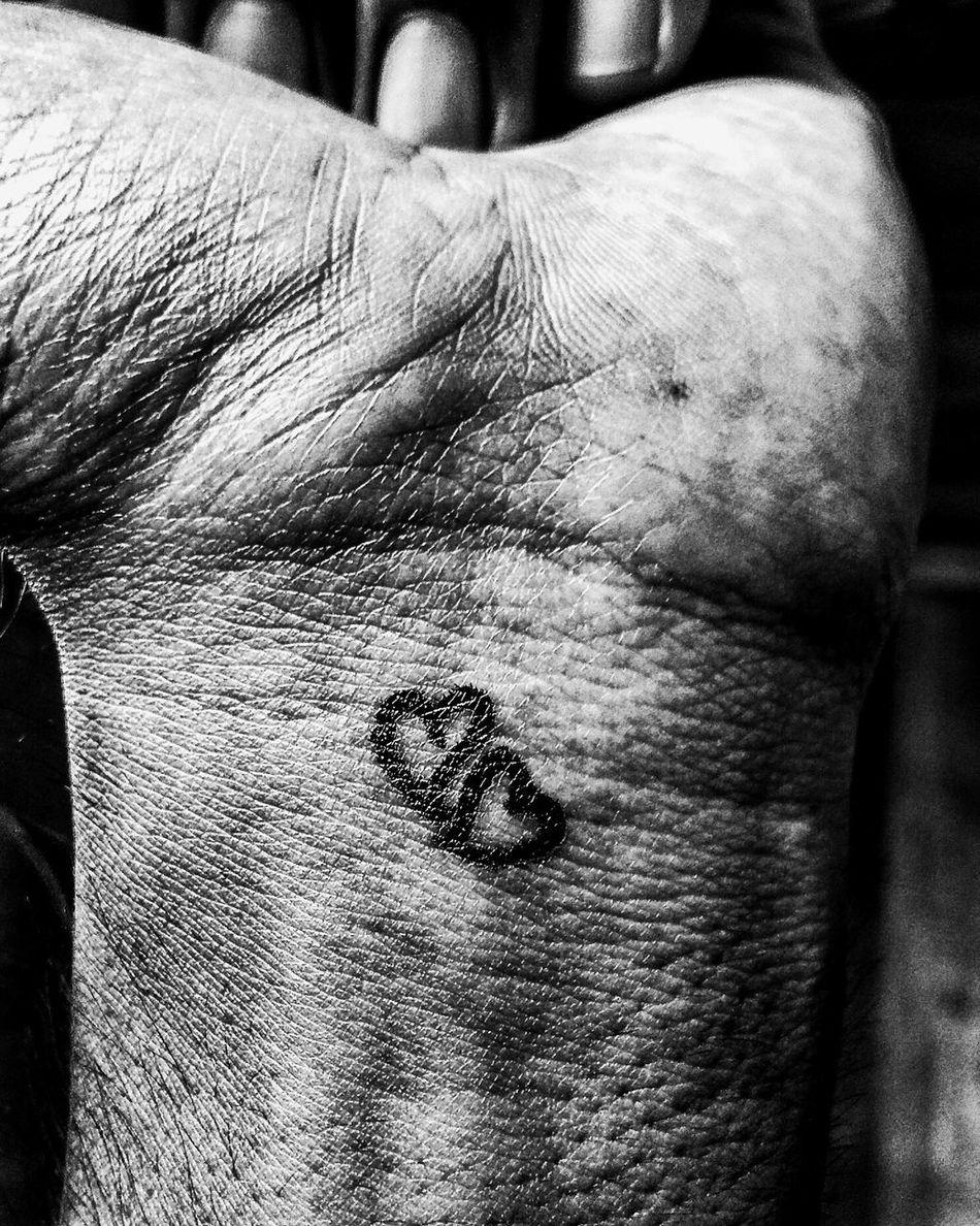 Blackandwhite Blackandwhite Photography Blacknwhite Bnw Bodyart Contrast Dark Hand Hard Contrasts Heart Heart Shape Hearts Monochrome Sophisticated Black And White Tones Two Hearts Wrist
