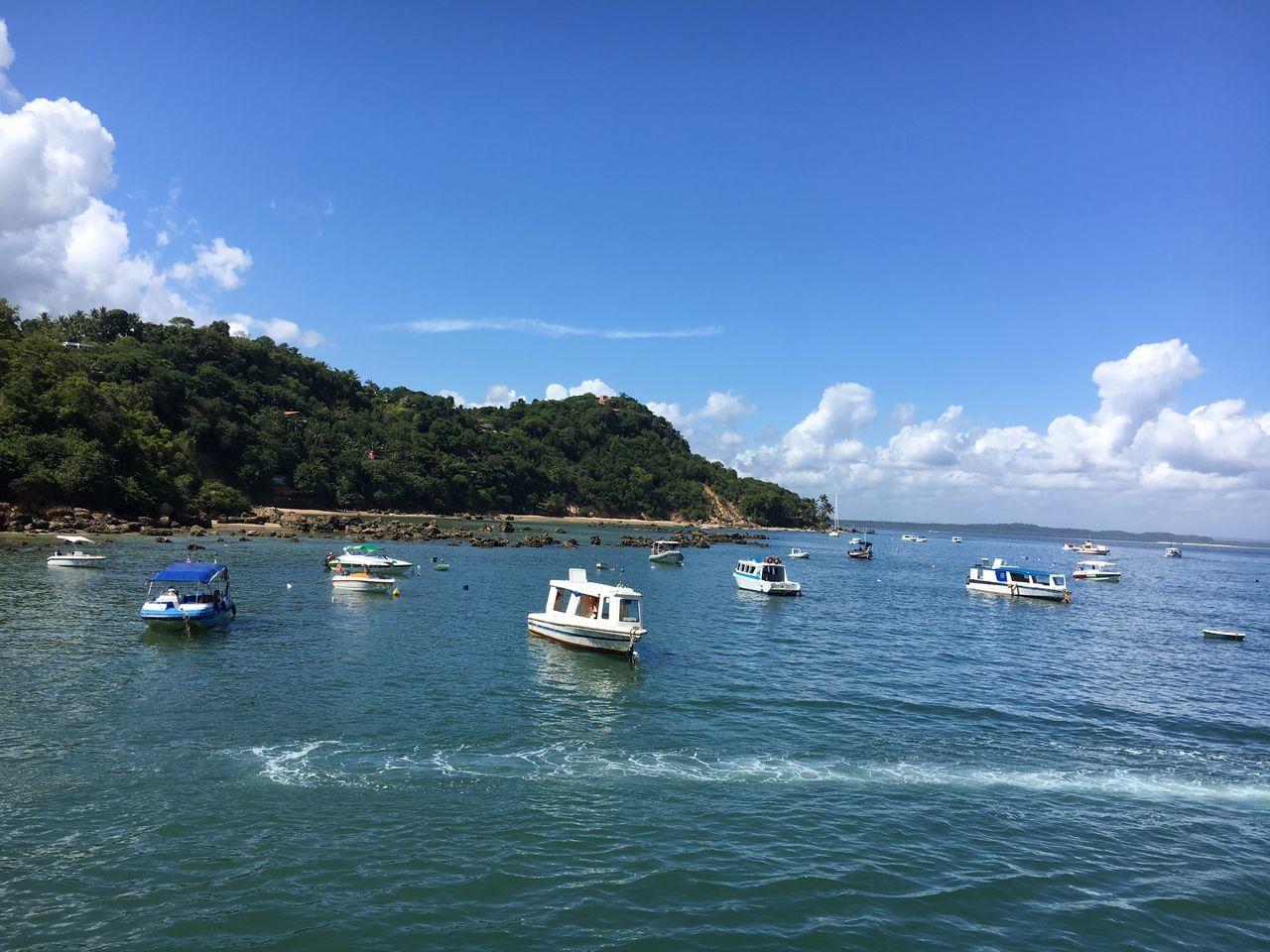Brazil Beach Boat Sea Sky