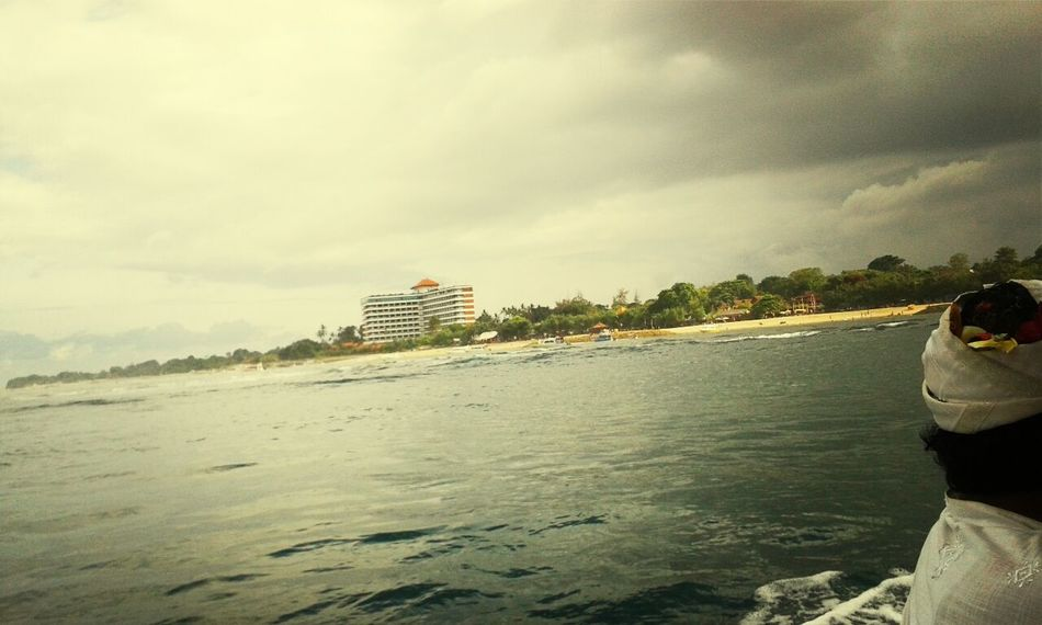 On The Boat Beach Photography view sanur beach hotel Cloudy in bali Holiday