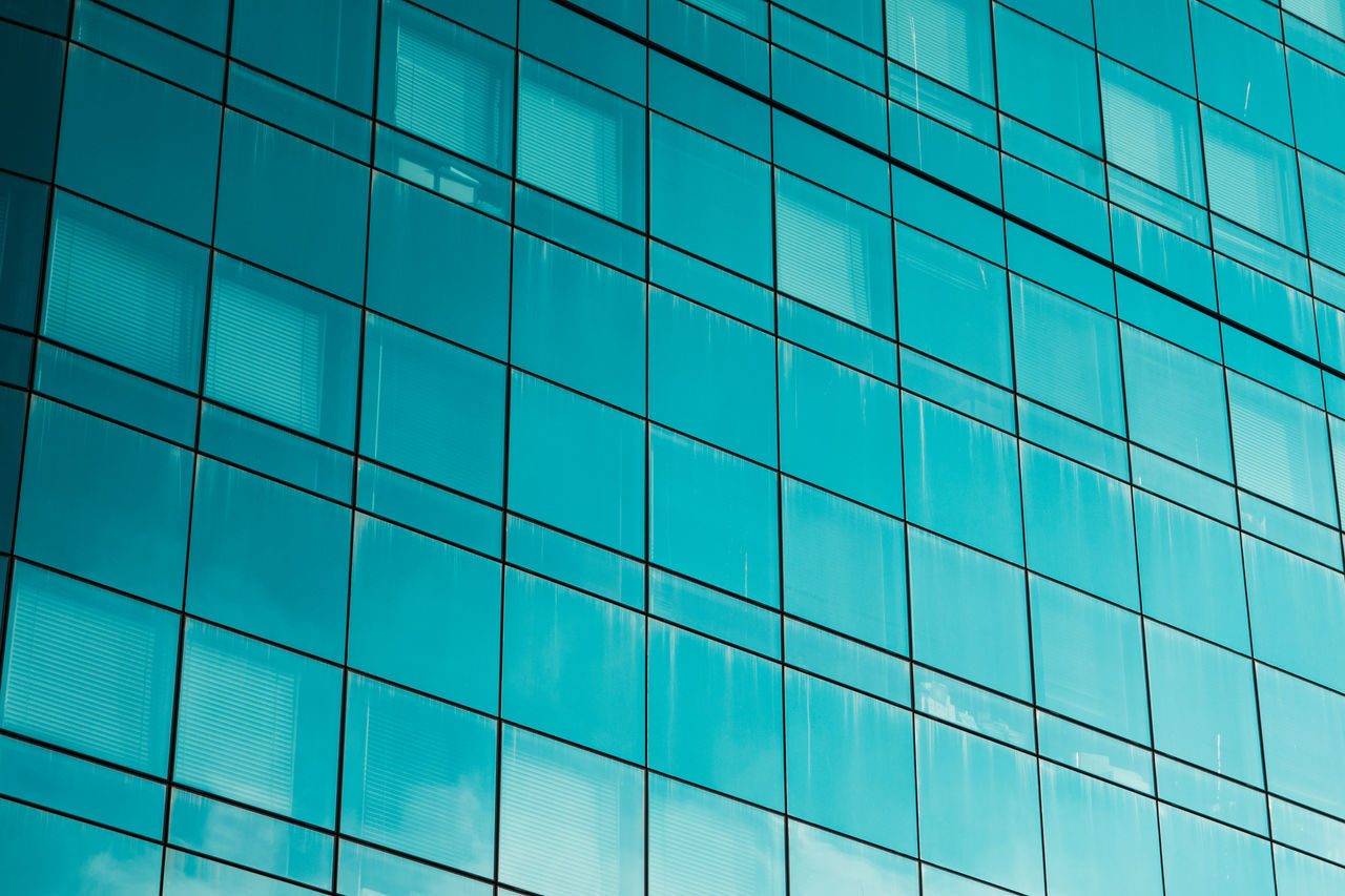 Business Lines Modern Abstract Architecture Backgrounds Blue Building Exterior Built Structure Close-up Corporate Day District Finance Full Frame Full Frame Shot Glass - Material Low Angle View Modern No People Outdoors Pattern Reflection Sky Window