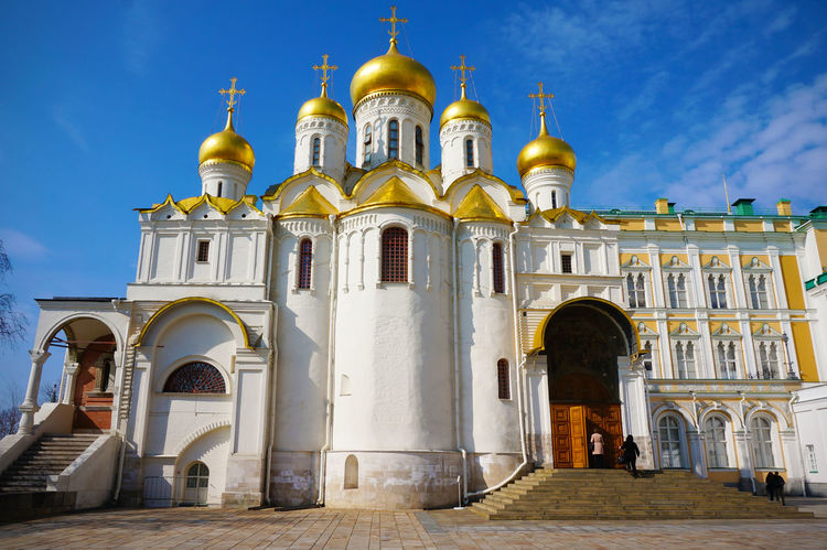 2014 Architecture Cathedral Of The Annunciation Church Cremlin Dome Gold Kremlin And Red Square Moscow Red Square Russia Russia Orthodox Church Sky Благовещенский собор красная площадь ブラゴヴェシェンスキー大聖堂 モスクワ ロシア 教会 生神女福音大聖堂 赤の広場 World Heritage