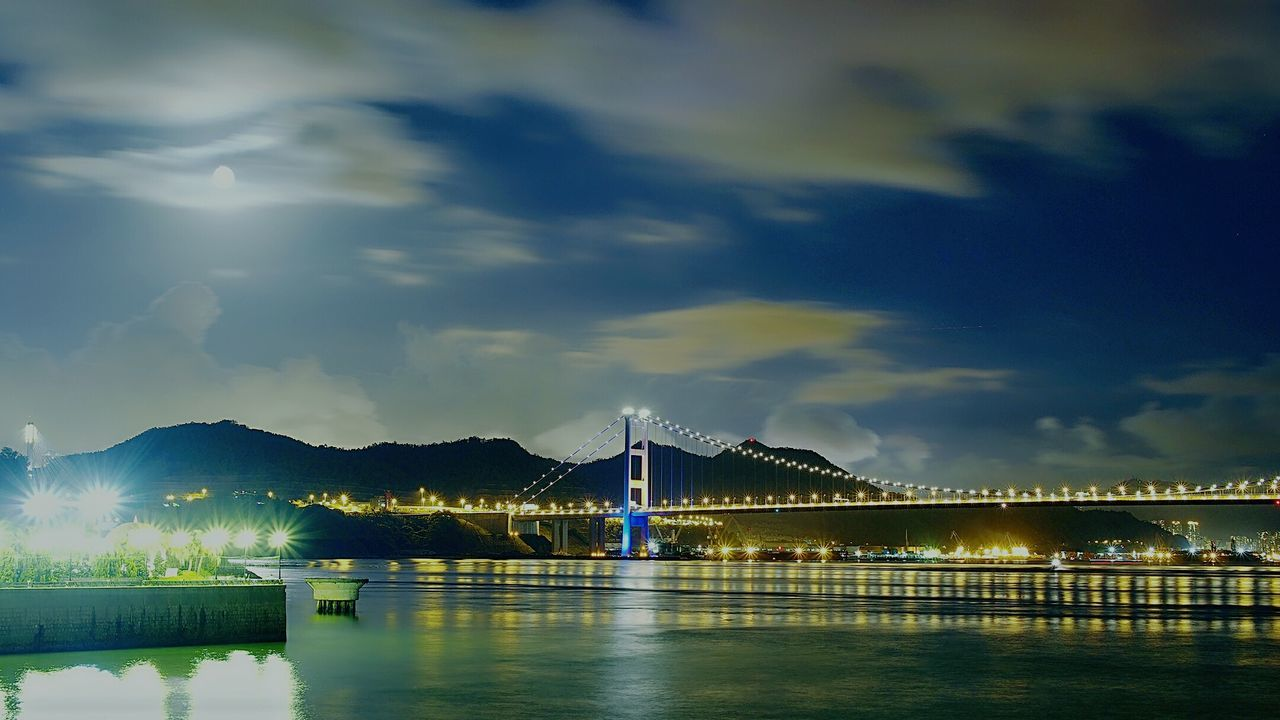 Good Night Eyeemphoto Lovely Moon Light Coastal Landscape Cityscapes City At Night Lanscapes Hk Discovery Channel Discoverhongkong