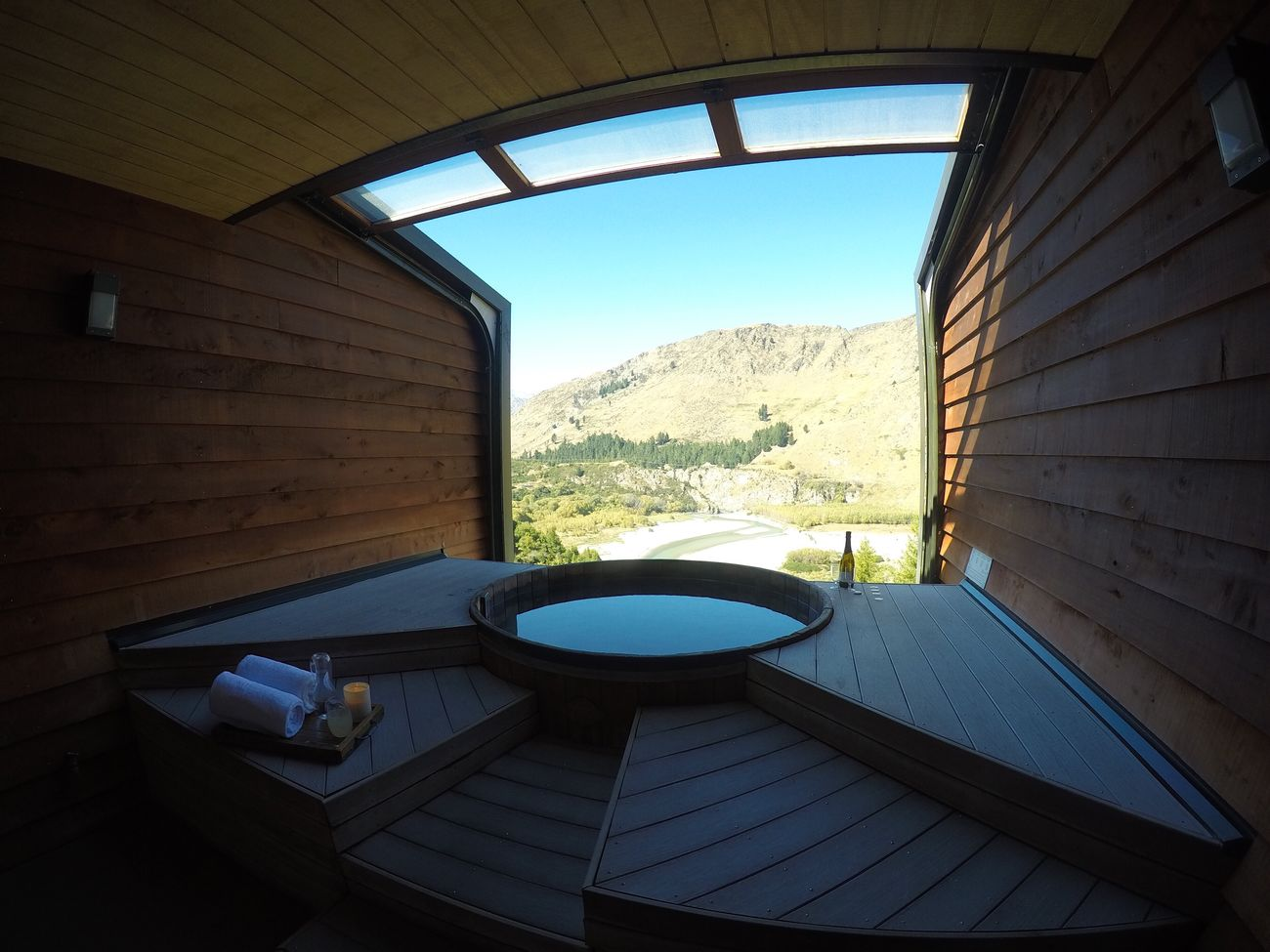 Spa days Clear Sky Sky Fish-eye Lens Pool Relaxing Chilling Calm Tranquility Travel Destinations Onsen