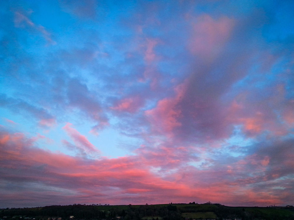 Sunset Sky Red No People Dramatic Sky Scenics Cloud - Sky Outdoors Nature Beauty In Nature Newtown Powys Wales Clouds Cloudscape Morning Sunrise Pink